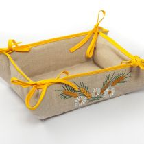 Хлебница текстильная (желтая)