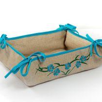 Хлебница текстильная (голубая)